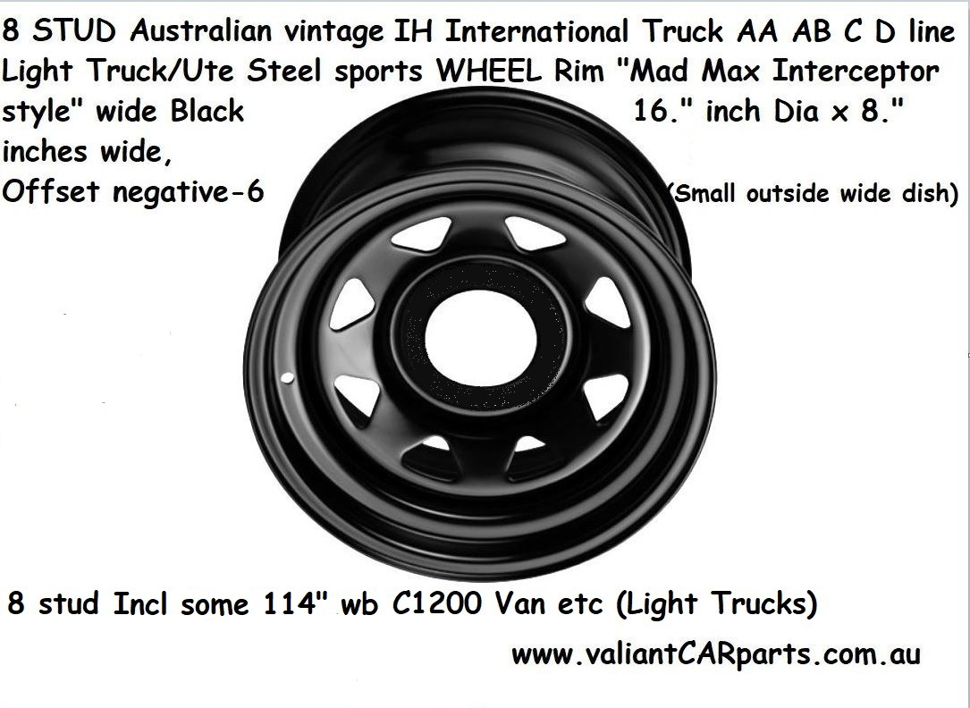 8_stud_vintage_IH_International_Truck_AA_AB_C_D_line_Steel_WHEEL_Rim_16x8_Wide_8x165.1_PCD